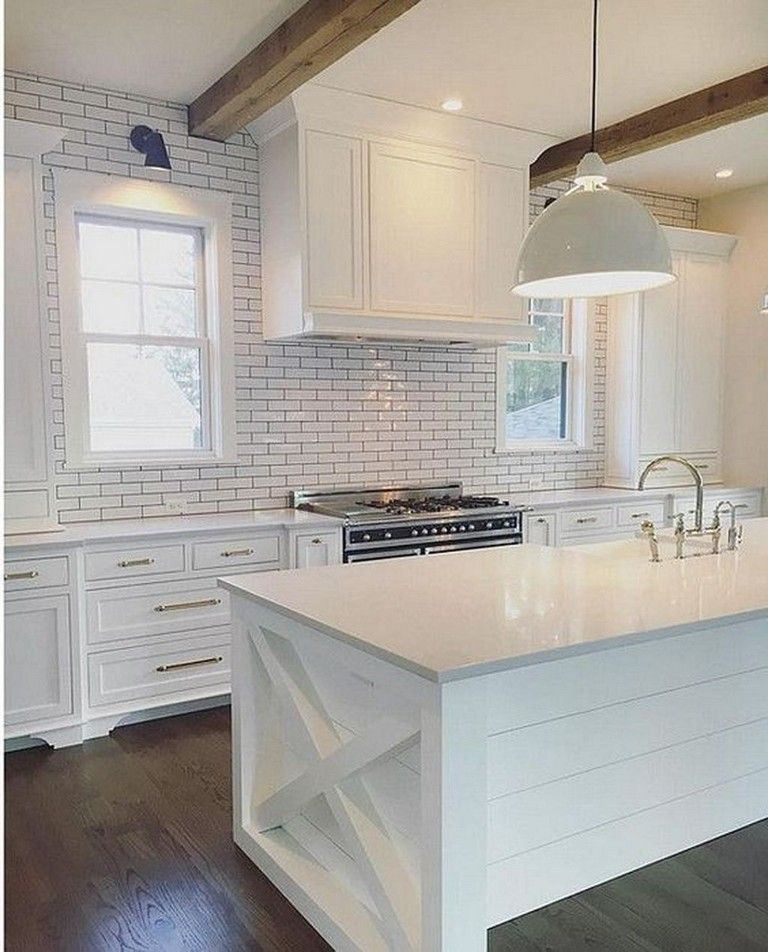 40 beautiful white kitchen backsplash design decor ideas kitchens kitchenbacksplash on farmhouse kitchen backsplash id=95371