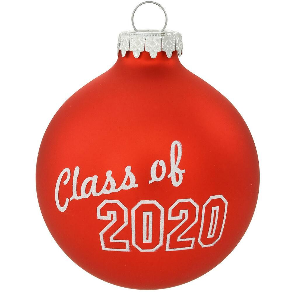 Class Of 2020 Glass Ornament in 2020 Personalized