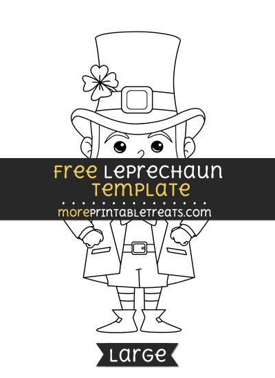 Free Leprechaun Template - Large | Shapes and Templates Printables ...