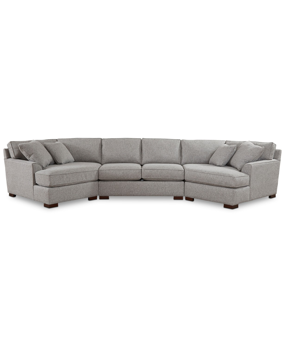 Furniture Closeout Carena 3 Pc Fabric Sectional Sofa With Double Cuddler Chaise And Armless Loveseat Created For Macy S Reviews Furniture Macy S In 2020 With Images Fabric Sectional Sofas Fabric