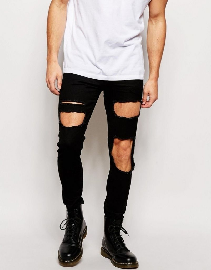 Wonderful Ripped White Jeans For Men | Ripped Jeans For Men ...