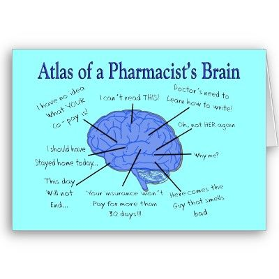 Funny Pharmacist S Brain Gifts Card Zazzle Com Pharmacist Quote Pharmacist Pharmacy Gifts