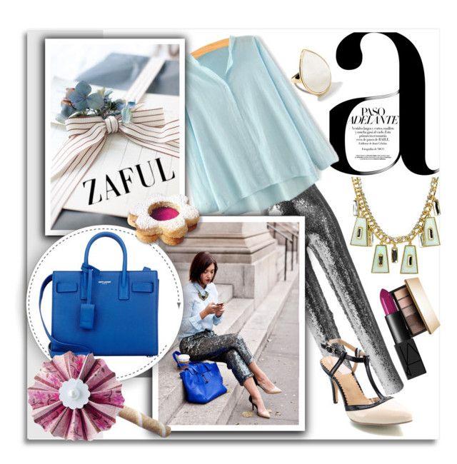 """Zaful 103"" by melissa-de-souza ❤ liked on Polyvore featuring moda, Nico, Isabel Marant, Ippolita, Clarins, NARS Cosmetics, Yves Saint Laurent ve zaful"