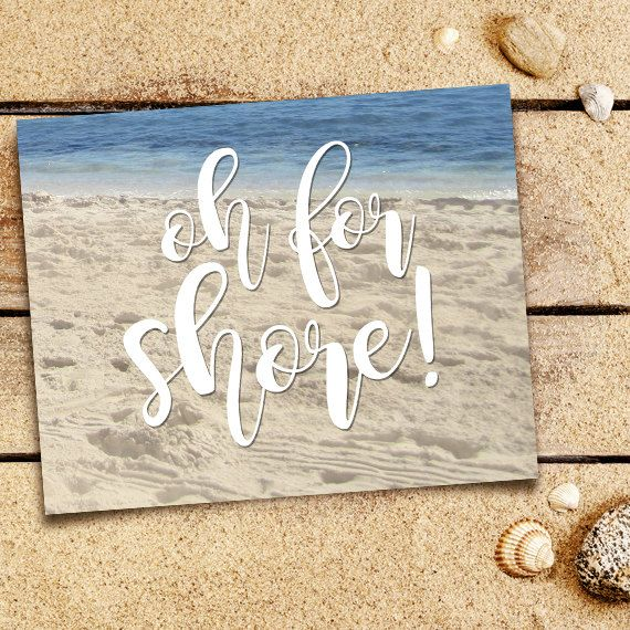 Oh For Shore Punny Digital X Printable Poster By Alittleleafy
