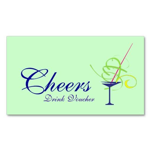 Wedding Drink Voucher Business Card Make your own business card - make your own voucher