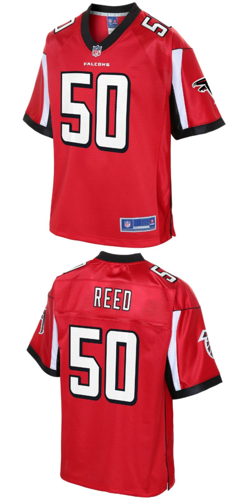 the best attitude bf174 ab9a6 Brooks Reed Atlanta Falcons NFL Pro Line Team Color Player ...