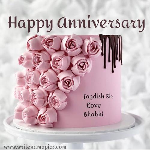 Anniversary Cake In 2020 Happy Anniversary Cakes Happy Marriage Anniversary Cake Anniversary Cake With Photo