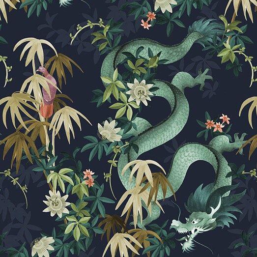 Custom dragon pattern for @sanctuary_boutiquelinens