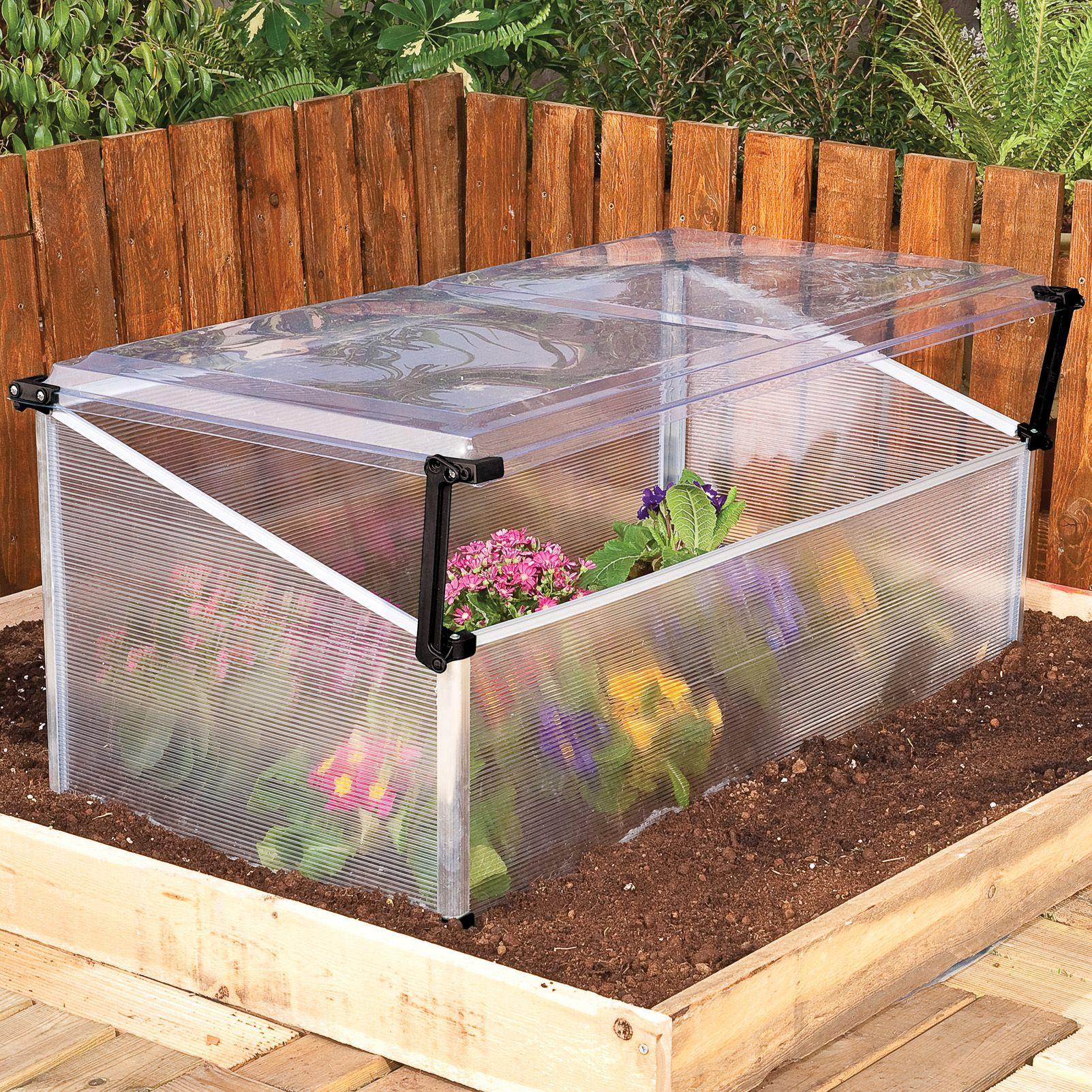 B Q 6x8 Polycarbonate Cold Frame Mini Greenhouse Departments Diy At B Q Mit Bildern Garten Pflanzen Pflanzen