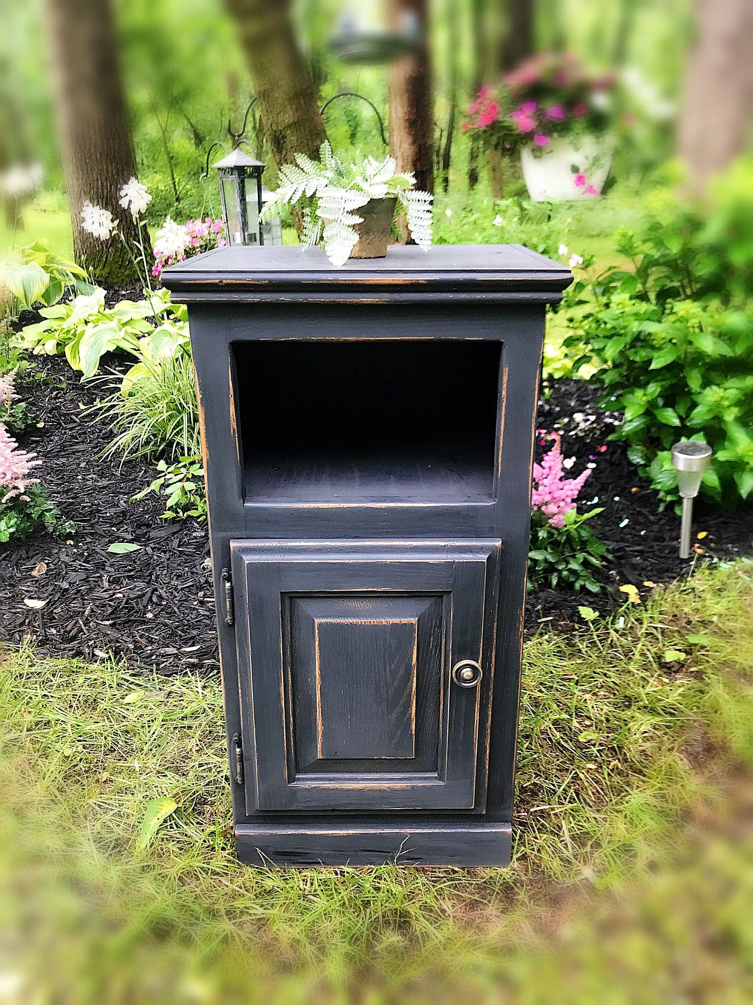 Unique Vintage Black Cabinet ,Vintage Liquor Cabinet ,Solid Wood ...