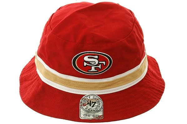 c86bb005afb8f Striped San Francisco 49ers Bucket Hat by 47 Brand