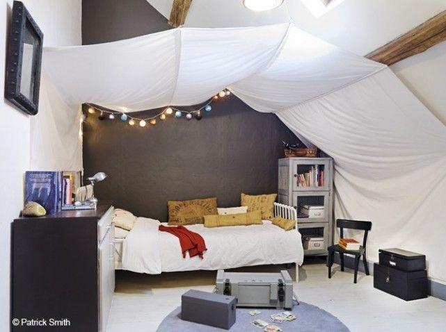 Combles chambre enfant   Bedroom   Pinterest   La poutre, Poutres ...