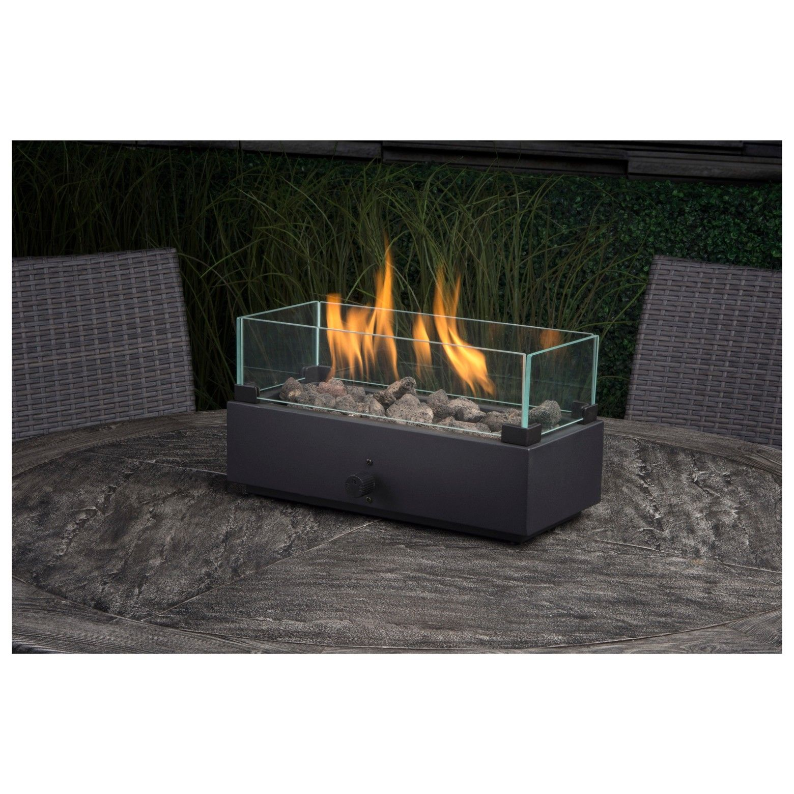 Transform Your Ordinary Patio Set With The Two Harbors 14 Long Tabletop Firebowl From Threshold Mount This Firebow Gas Fire Table Outdoor Fire Pit Fire Table