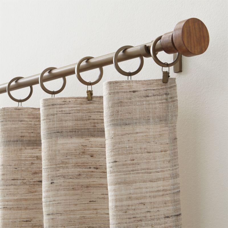 Copenhagen Brass 75diax120 170 Curtain Rod With Wood