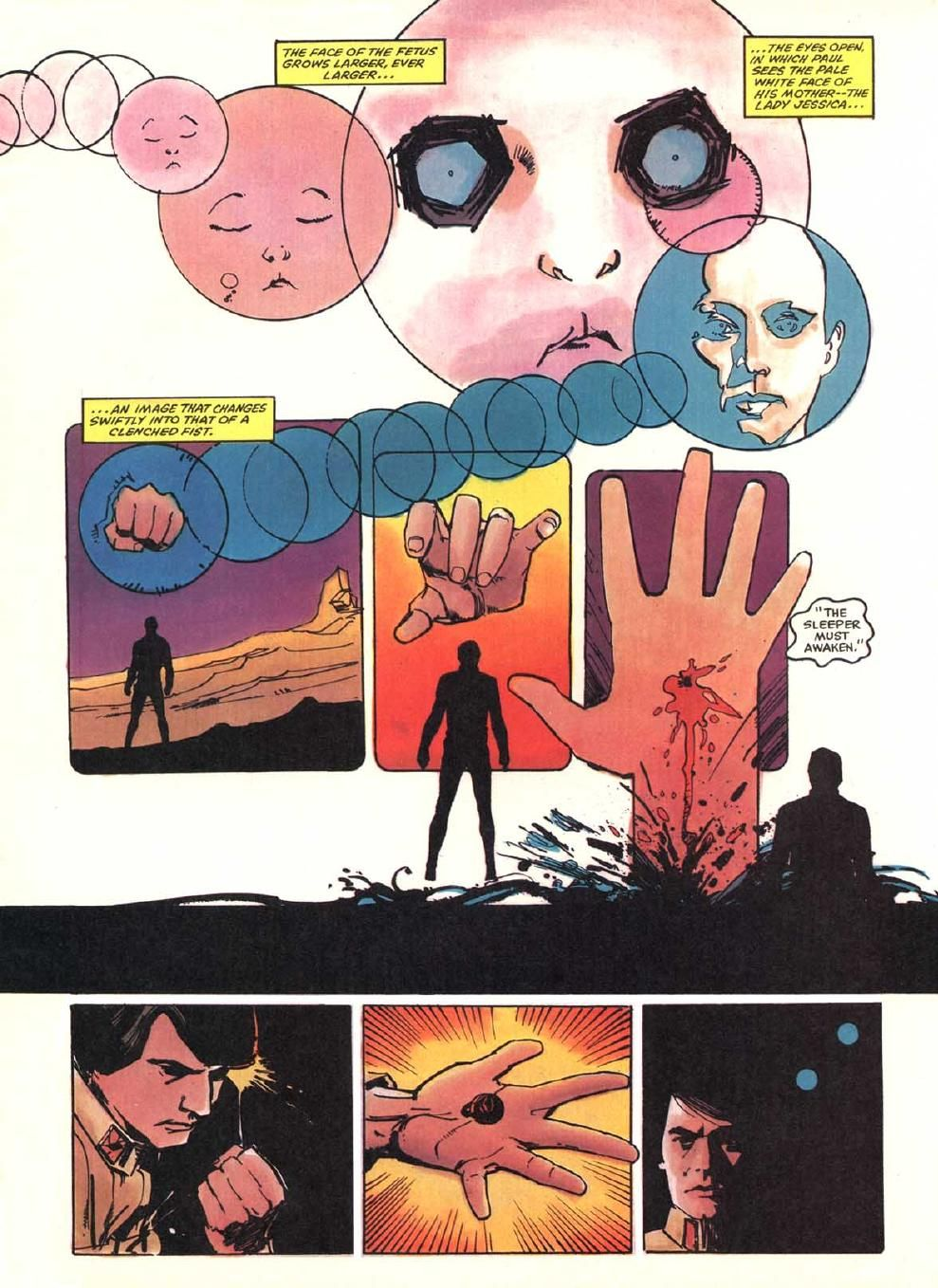 Ben Towle: Some Bill Sienkiewicz pages from the old Marvel...   Comic  layout, Comic books art, Comic illustration