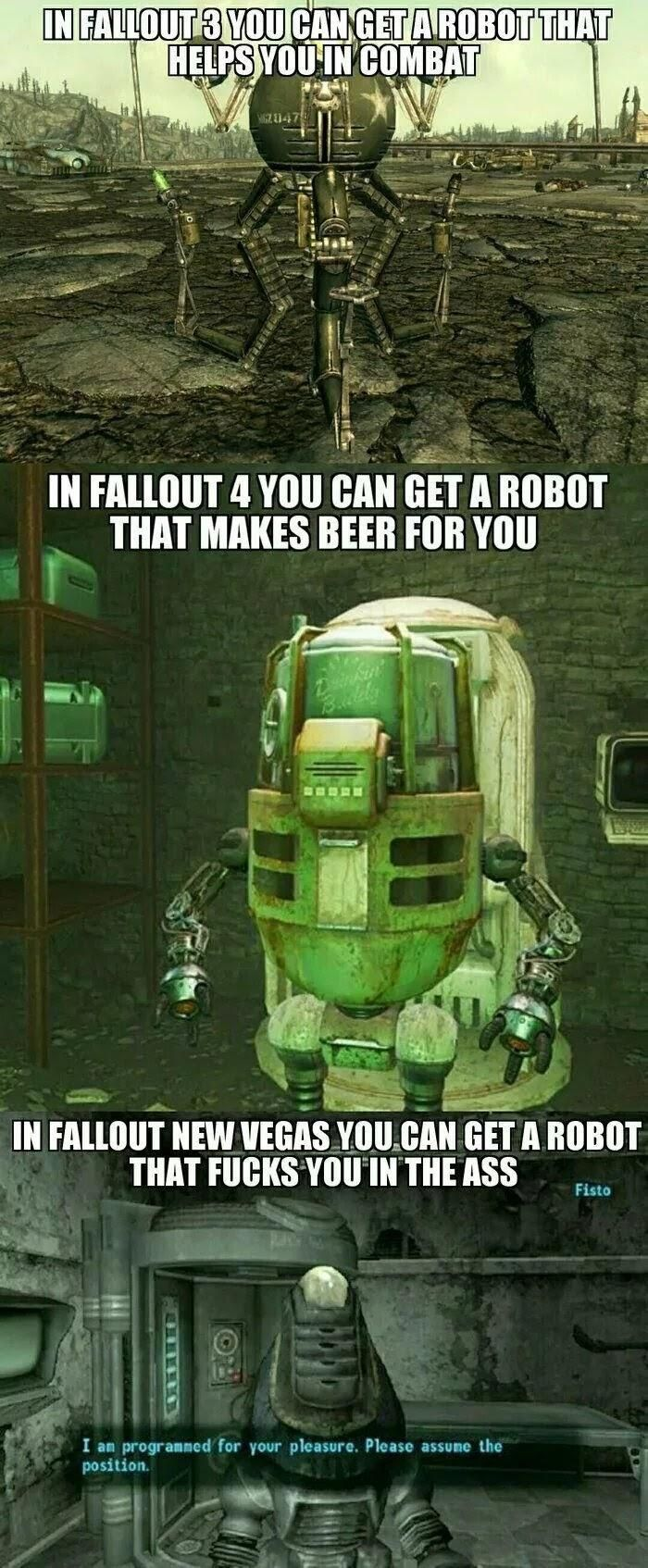 Fallout standards these days. Fallout funny, Fallout