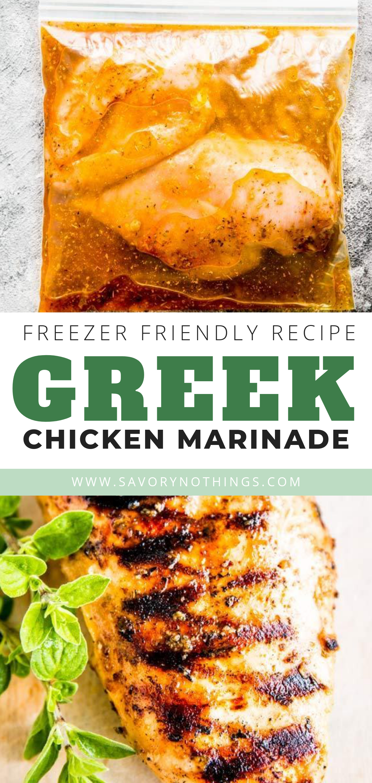 Greek Chicken Marinade is an easy and delicious marinade for pan fried or grilled chicken. It's a great way to keep your grilling events on the healthy side, because it's made with all real-food, natural ingredients. You probably have everything on hand already – perfect to make your next BBQ cookout absolutely hassle-free! |