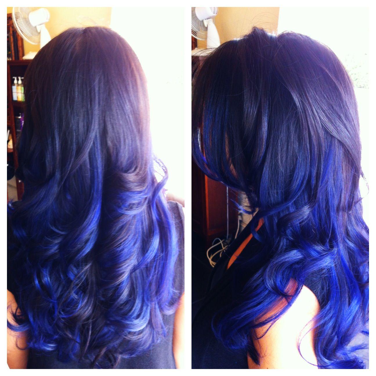 #blueombre blue ombré hair by Erica @Tina Giger Ink #salonink www.salonink.com