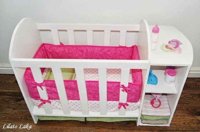 Pin By Toni Gordon On Dolls Baby Doll Furniture Baby Doll Crib Baby Doll Bed