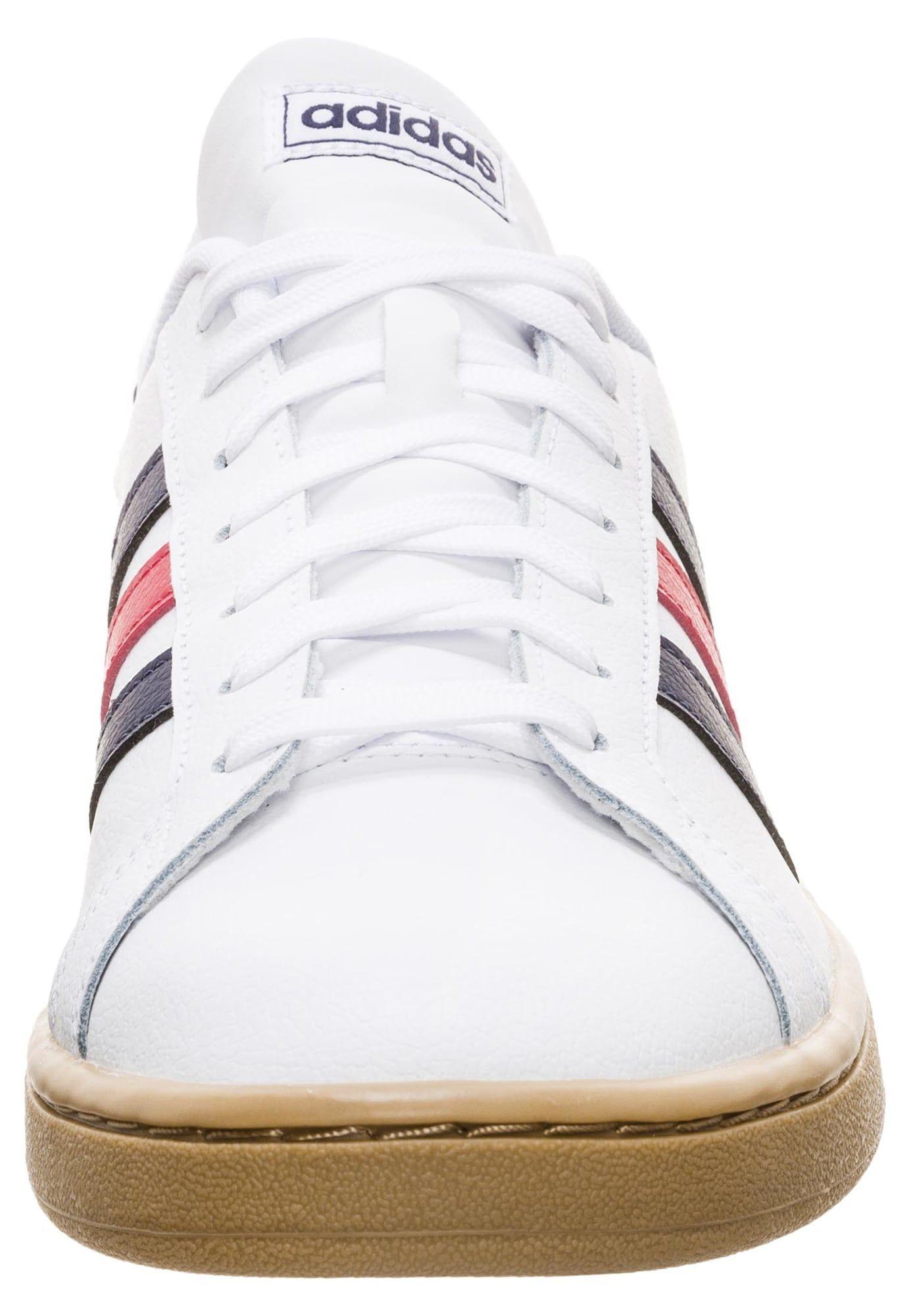Adidas Performance Sneaker Grand Court Herren Nachtblau Rot Weiss Grosse 42 5 43 Sneaker Adidas Adidas Performance