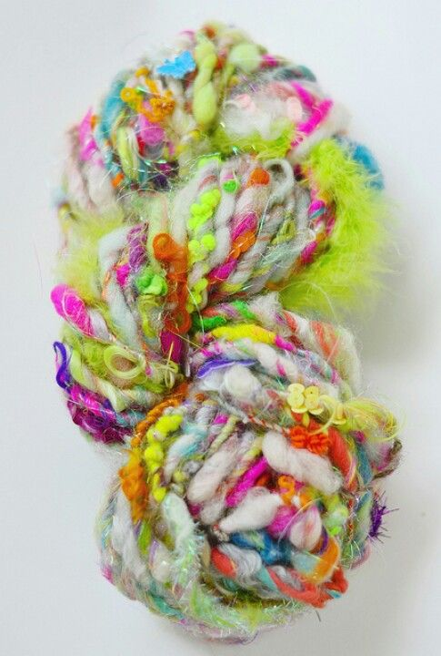 Love this yarn! I see a crochet or knit scarf in my future ...