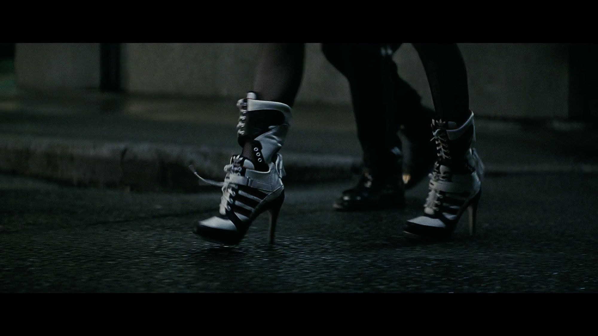 hot sale online ef0b0 af4b3 ... Adidas By Jeremy Scott 130mm JS High Heel Leather Boots as seen on Dr.  Harleen ...