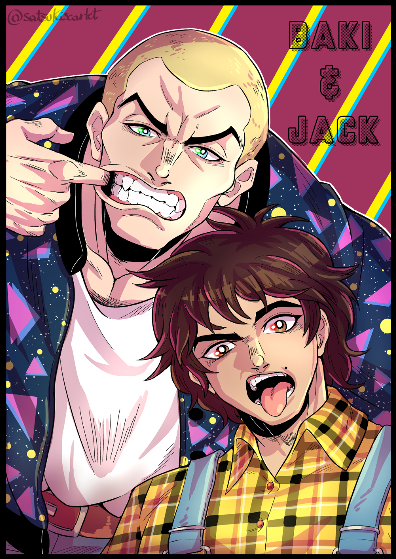 Baki Hanma & Jack Hanma in 2020 Cartoon artwork, Anime