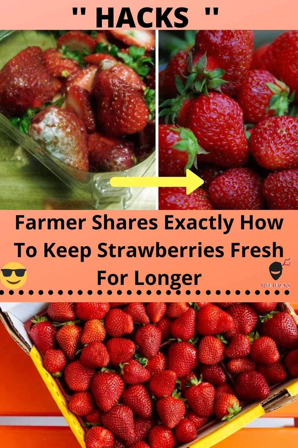 Farmer Shares Exactly How To Keep Strawberries Fresh For Longer In 2020 Life Hacks Home Diy Life Hacks Simple Life Hacks