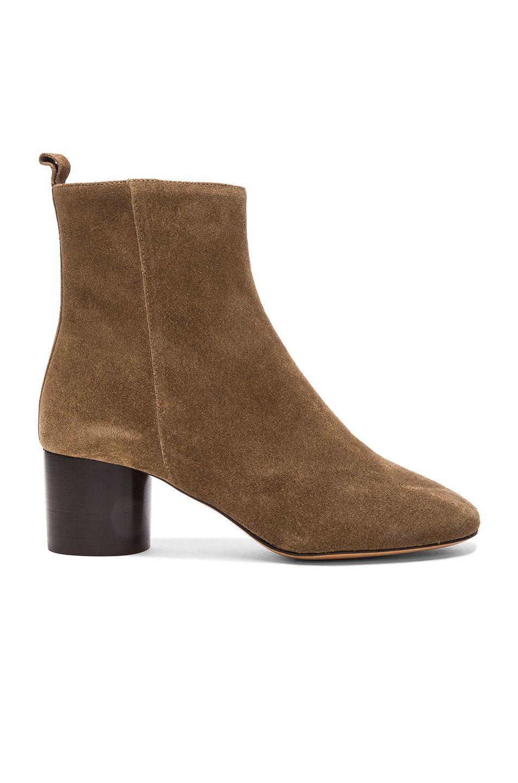 65f54bbf47f6a Isabel Marant Etoile Suede Deyissa Summer Velvet Boots in Brown | FWRD