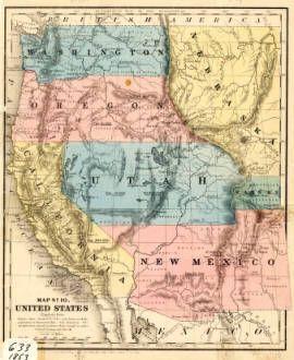 Map Of Arizona And New Mexico.Map No 10 United States 1853 New Mexico Waters Arizona