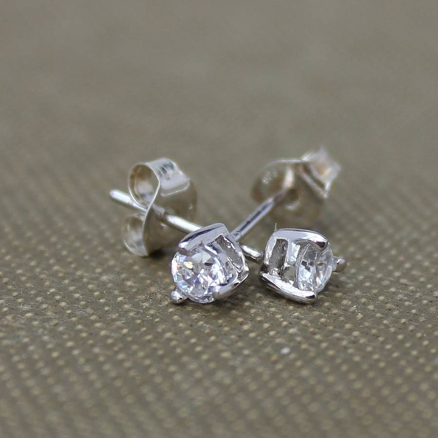teardrop zirconia stud earrings by bish bosh becca | notonthehighstreet.com