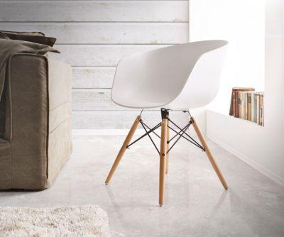 Esszimmerstuhl Weiss stuhl lissabon matt weiss massivholz gestell schwarz