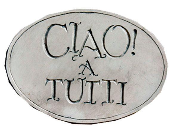 Italian Ciao Welcome Sign