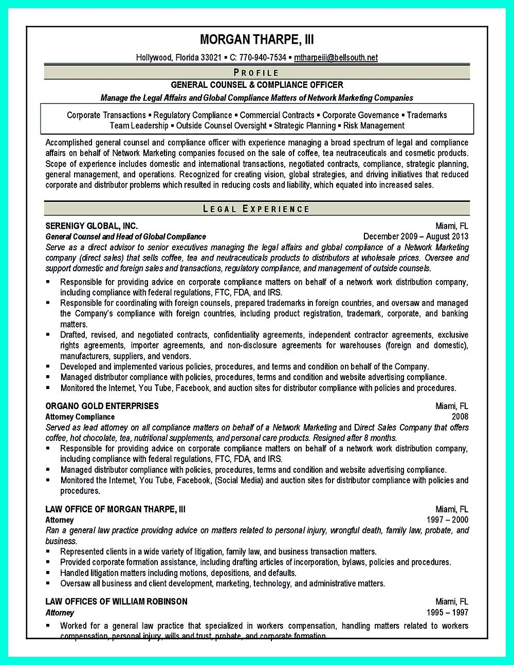 Compliance Officer Resume Is Well Designed To Get The Attention Of The Hiring Manager The Resume Here Begins With Th Resume Compliance Cover Letter For Resume