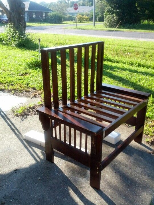 Bench Made From Old Futon Frame Thanks