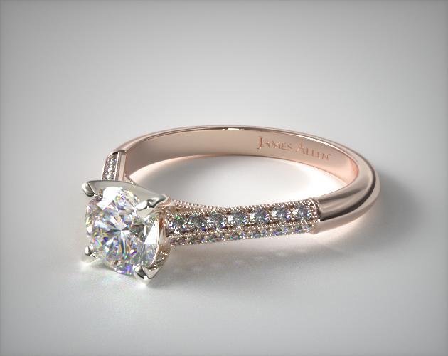 c1b4c5d504b Pave Knife Edge Cathedral Diamond Engagement Ring