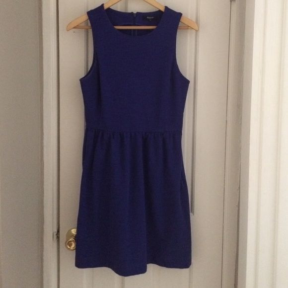 Afternoon Dress Sleeveless cotton spandex dress. Zips up back. Super versatile and flattering. In excellent used condition. Madewell Dresses