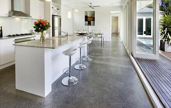 5 Sustainable Flooring Options  Flooring Options Concrete And Lofts Awesome Kitchen Floor Options Review