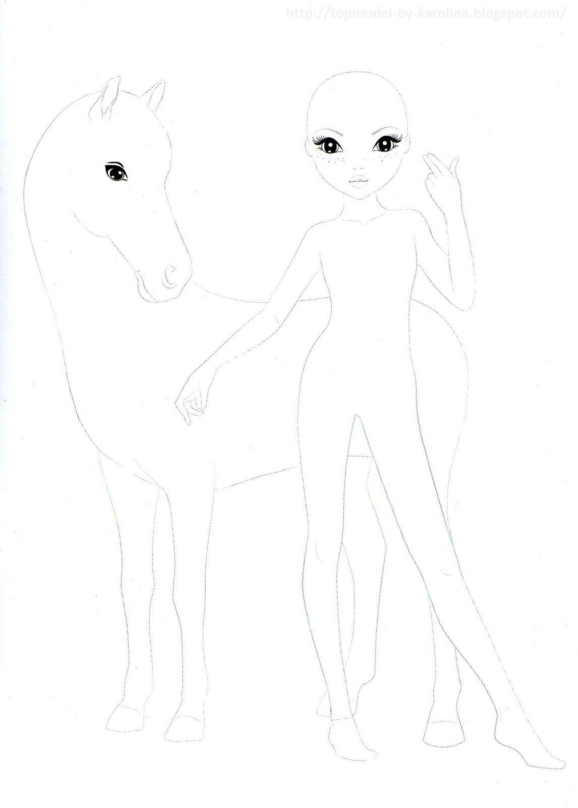 Paard En Meisje Topmodel Malvorlagen Topmodel Ausmalbilder Disney Malvorlagen