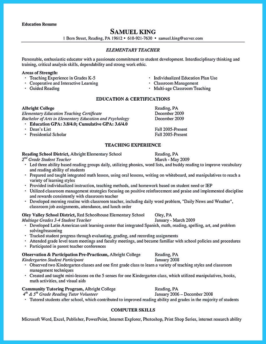 Grabbing Your Chance With An Excellent Assistant Teacher Resume Education Resume Teacher Resume Teacher Assistant