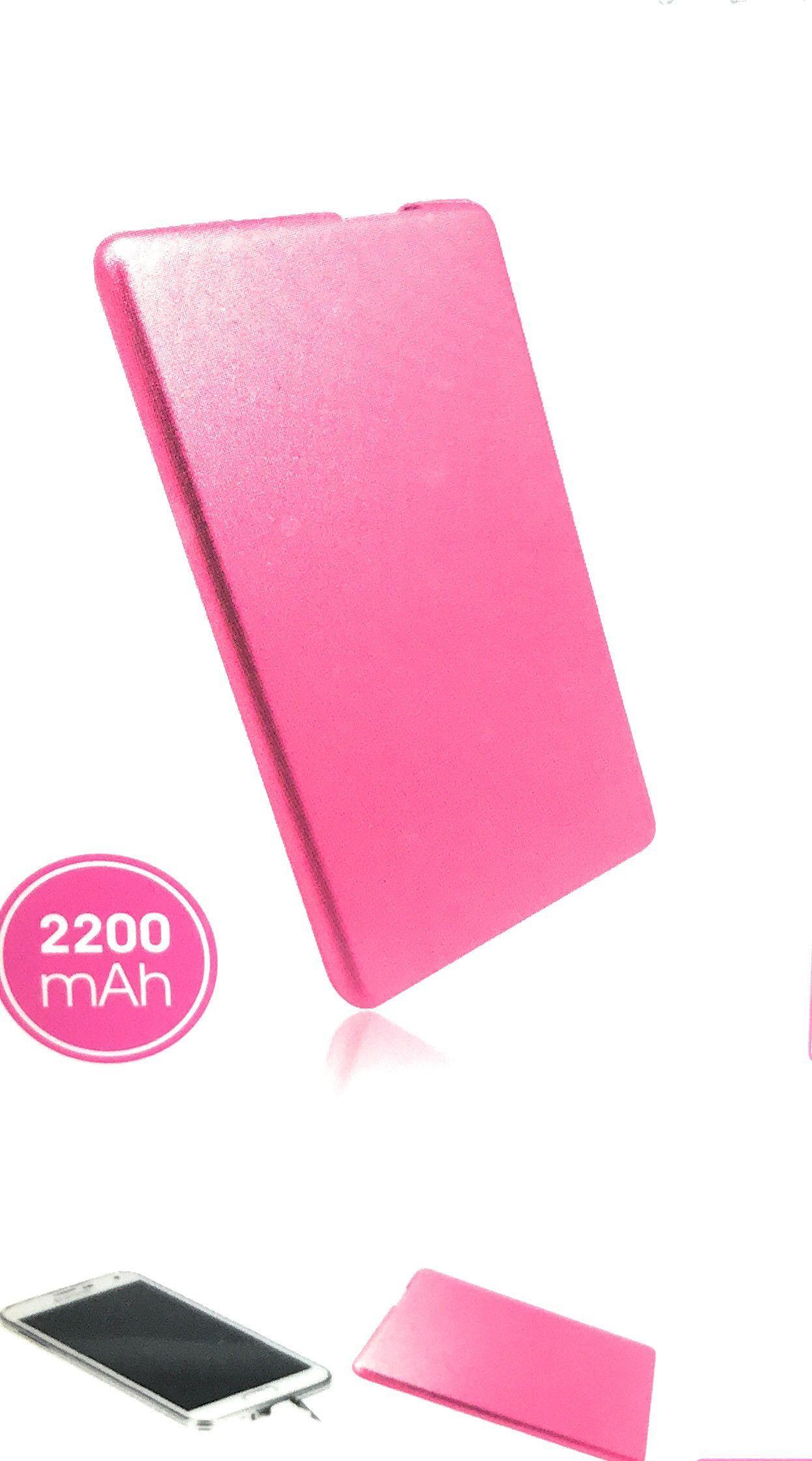 PdI Smart Phone Pocket Power Bank Ultra Slim, Pink