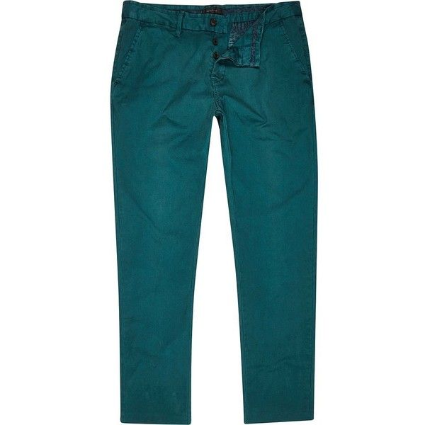 River Island Jade green slim chinos ($10) ❤ liked on Polyvore featuring men's fashion, men's clothing, men's pants, men's casual pants, sale, mens chinos pants, mens green pants, mens green chino pants, mens slim pants and mens chino pants