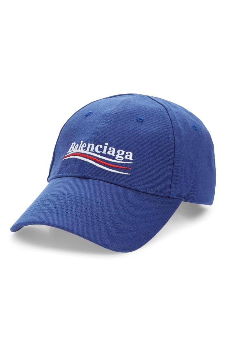Political Embroidered Logo Baseball Cap Nordstrom Embroidered Logo Popular Hats Balenciaga