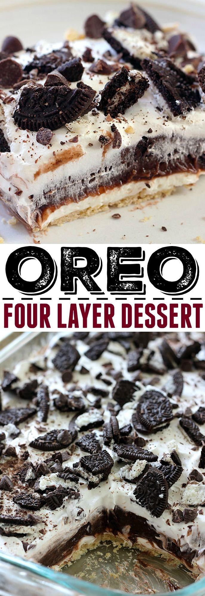 Oreo Four Layer Dessert #favourites