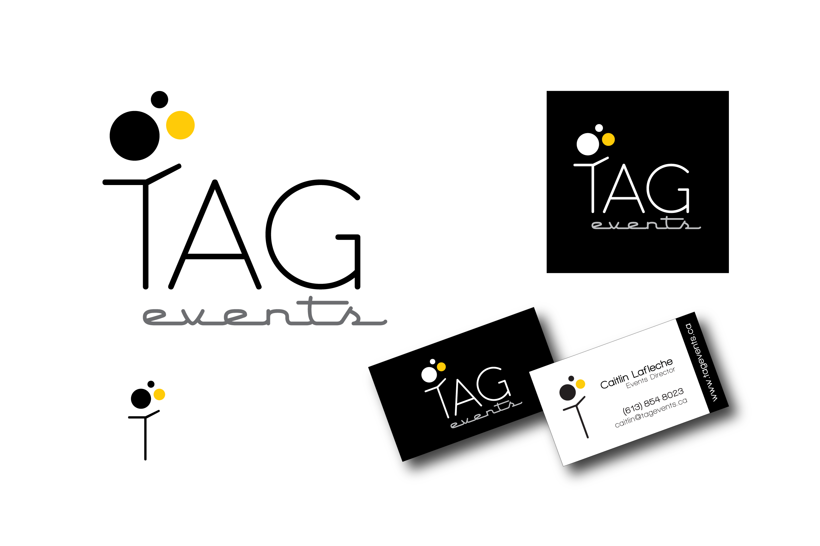 TAG events - Event Planning, Ottawa - Logo creation, business card ...