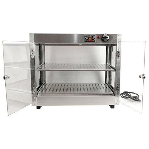 Commercial 110v Countertop Food Warmer Display Case W Water Tray
