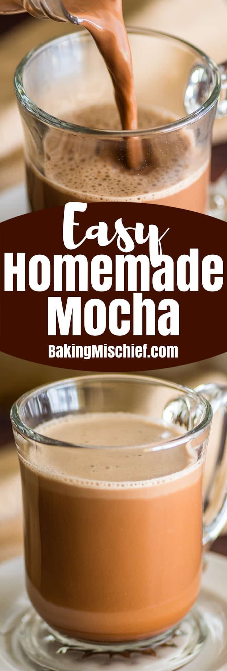 How to make an easy and delicious homemade mocha no