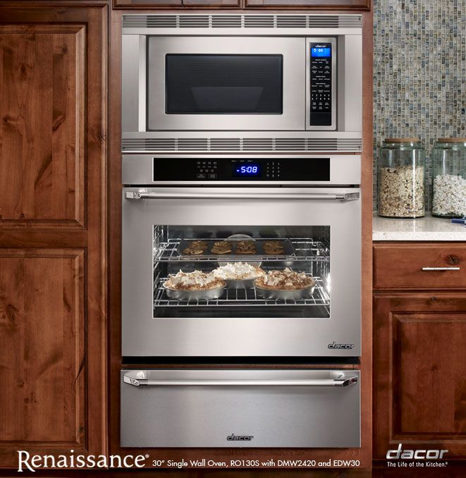 Dacor microwave, oven and warming drawer combo. | Wall oven ...