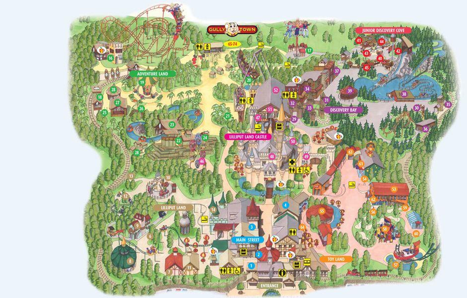 Gullivers Land Theme Park Map Theme Park Park Resorts
