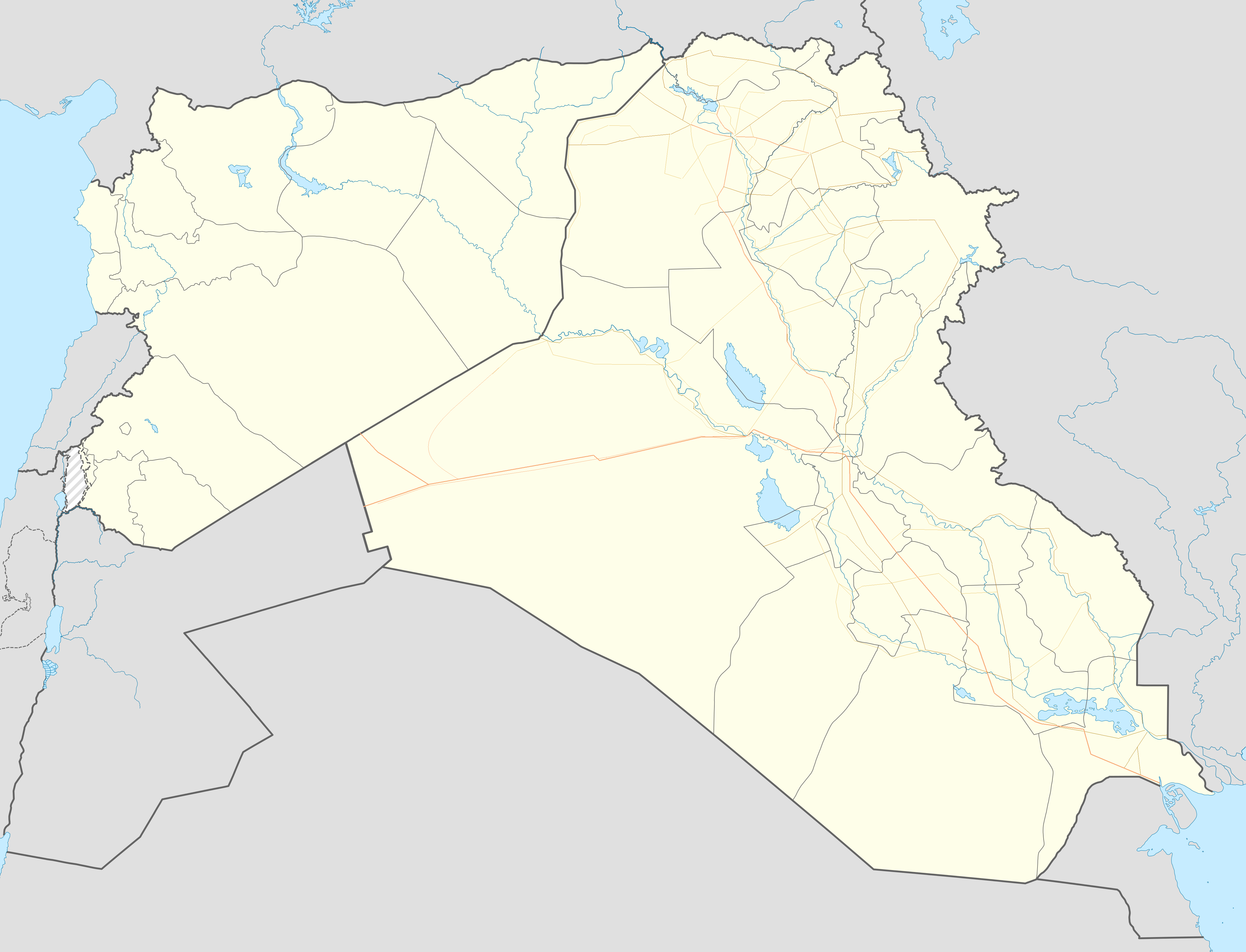 Syrian and Iraqi insurgency detailed map is located in Syria-Iraq ...